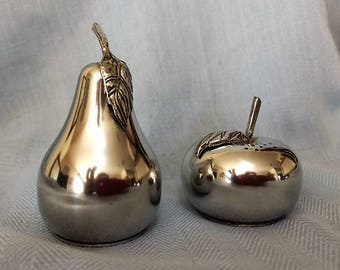Vintage Pewter Salt & Pepper Set