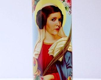 princess leia - star wars - prayer candle