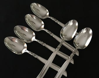 Oneida Community South Seas Tablespoons Set of 6 Vintage Community South Seas Silverplated Teaspoons