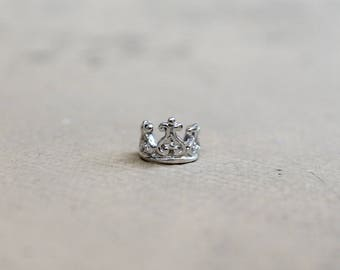 Sterling Silver 925 Crown Ear Cuff