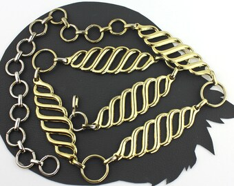 Vintage Gold Metal Chain Link Belt - 26 to 37 inches