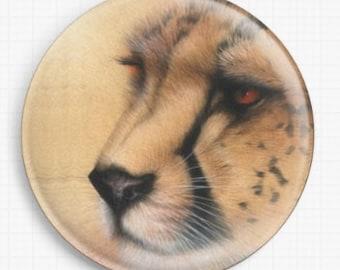 Needle Minder, Cross Stitch, David Finney, CrossStitch, Cheetah Needle Minder, Cross Stitch Keeper, Fridge Magnet, Pin Keeper,