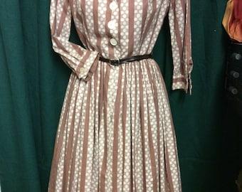 1950s cotton day dress