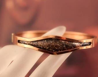 Mid Century COPPER Hinged Bracelet Signed MATISSE RENOIR