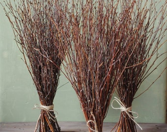 Birch branches Rustic home decor Rustic wedding decor Witches broom SUPPLY Wiccan besom Magic altar cleansing Pagan ritual Sabbat