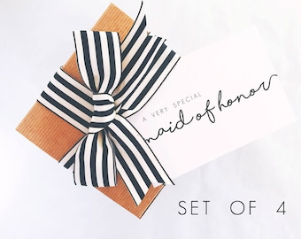 Bridesmaid Gift Box Set of 4, Personalized Gift for Bridesmaids Gift Ideas for Women, Bridesmaid Boxes Bridesmaid Gift Box Ideas for Wedding