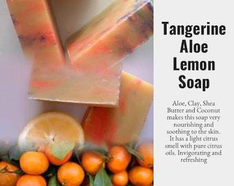 Tangerine Aloe Soap