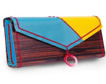 Wood clutch Springtime sale