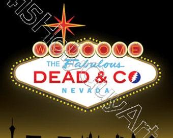Dead & Company Sticker FREE SHIPPING!!! (Las Vegas Grateful Dead Sticker)