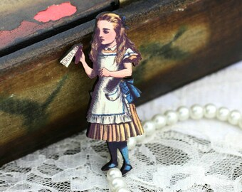 4pcs Alice in Wonderland Wood Charms / Pendants HW009B