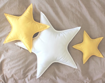 Yellow star cushion / Star pillow / Star shaped pillow / Decorative pillow / Kids pillow / Star decor / Nursery decor / Kids room