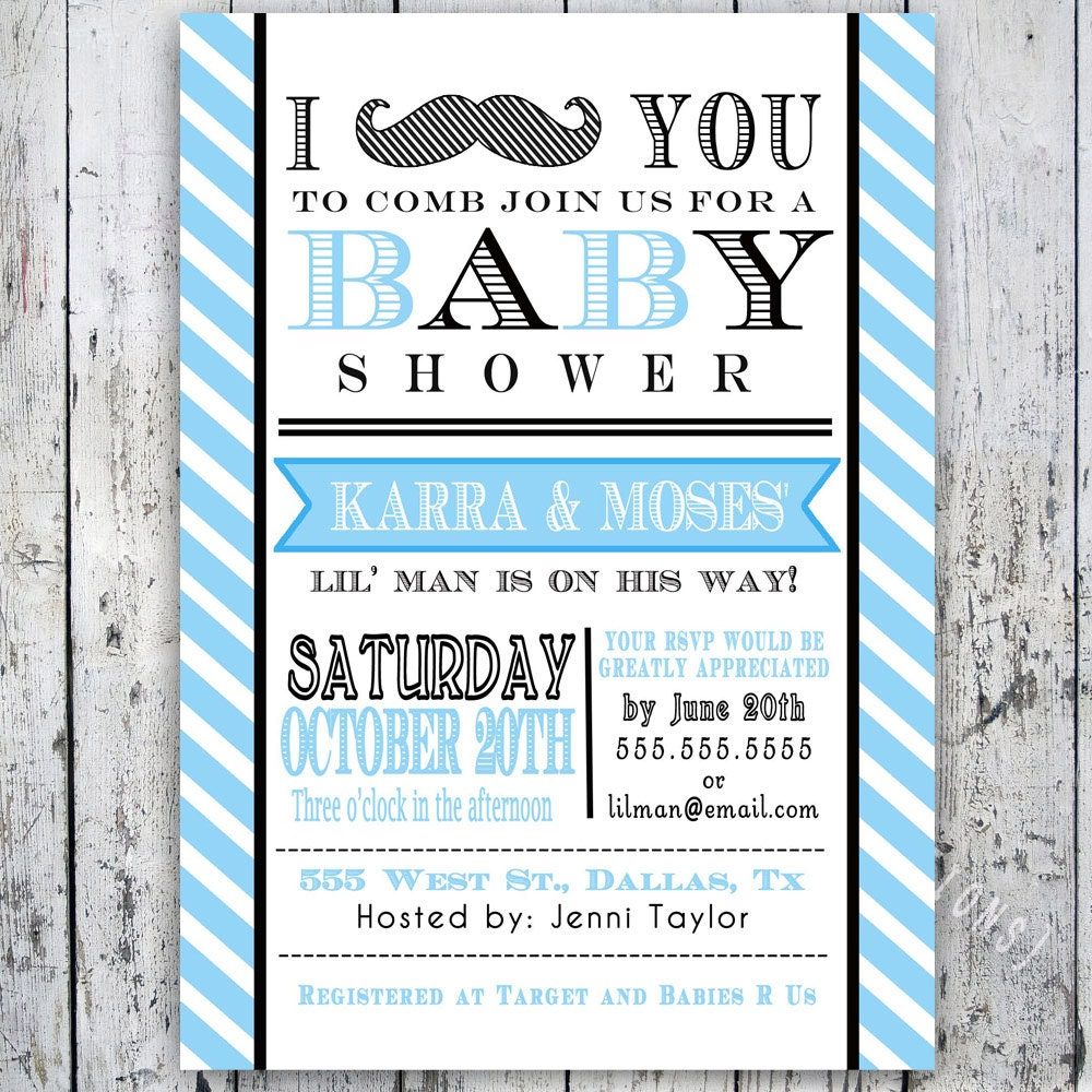 Little man mustache baby shower invitation digital zoom pronofoot35fo Image collections