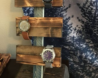 Rustic Wooden Handmade Watch Holder