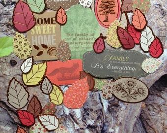 Ephemera Pack leaves fall flurries Ephemera Pack die cut accents