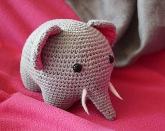 Amigurumi Elephant Crochet Baby Toy Plushie