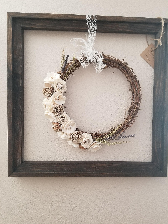 Floating Wreath Frame