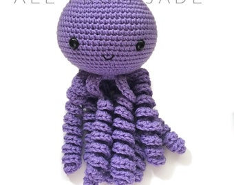 Stuffed crocheted amigurumi plush Octopus
