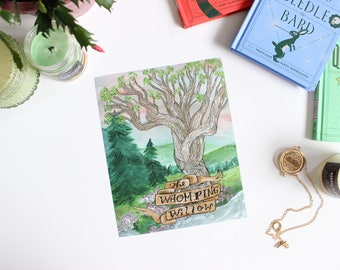 The Willow Literary ART PRINT