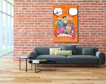 Adventure Time, Finn and Jake, Adventure Time canvas, Finn and Jake canvas, Adventure Time print, Finn and Jake print, Adventure Time Art