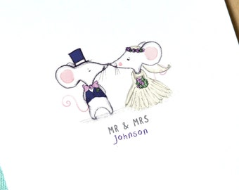 Personalised Wedding Card | Mr and Mrs | Mr and Mr | Mrs and Mrs