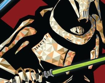 """Star Wars - General Grievous Digital Art Poster 11"""" x 17"""""""