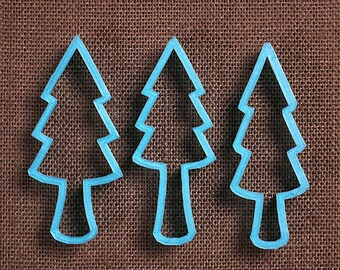 Christmas Cookie Cutter, Tree Cookie Cutter Set, Forest Trees Cookie Cutters, 3D Printed Cookie Cutters, Woodland Cookie Cutter, Pine Trees