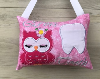 Personalized Tooth Fairy Pillow tooth cushion keepsake birthday easter