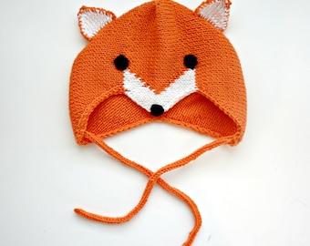 KNITTING PATTERN - The Little Foxy Bonnet