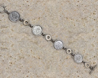 Support bracelet round cabochon 14 mm