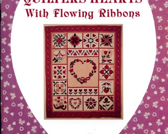 Quilter's Hearts with Flowing Ribbons by Betty Boyink