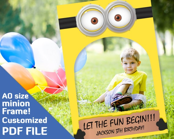birthday minion party photobooth prop minions party supplies
