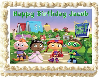 Super Why Image Edible Cake Topper
