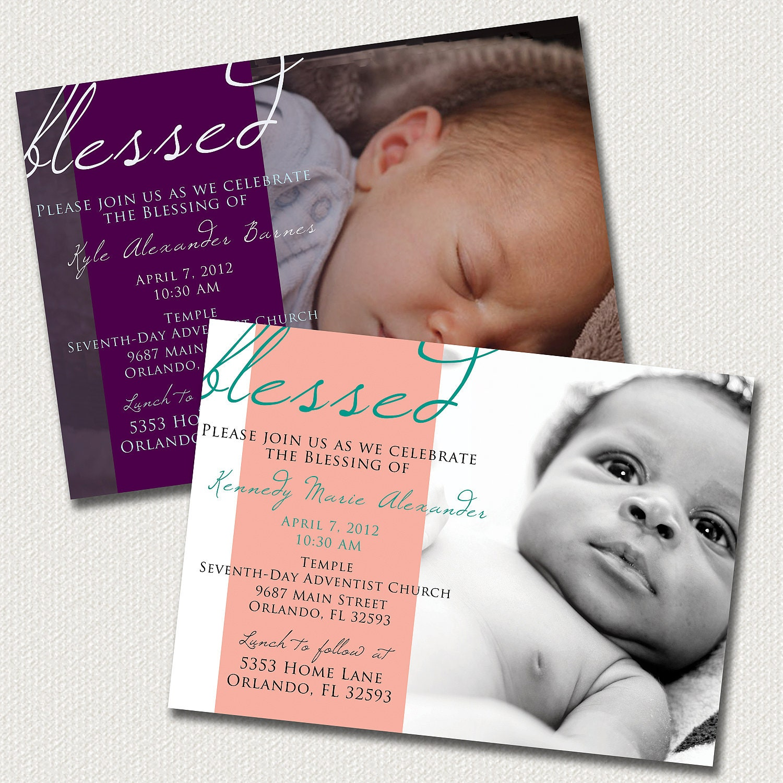 Baby Dedication Blessing Christening Invitation: Boy or Girl
