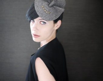 Modern Industrial Felt Fascinator with Porupine Quill Accents - Arthropod  Series - Made to Order 59ef1c4530a