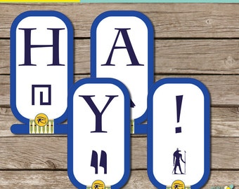 INSTANT download: Egypt Party -  Happy Birthday Banner - Printable PDF file