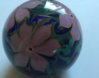 Phenomenal Vandermark Merritt Glass Studio 1980 Paperweight