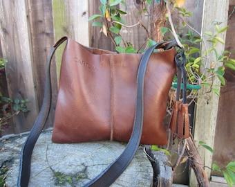 Leather crossbody, leather bag, crossbody leather bag, leather woman bag, leather handbag, leather bag BRI- BROWN!