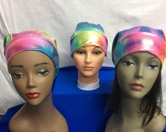 Colorful chemo caps