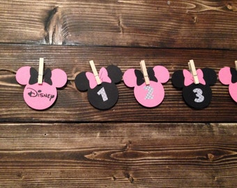 Minnie Mouse Disney Countdown Banner