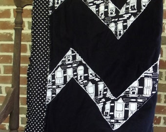 Black and White City Quilt