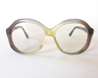 Vintage Eye Glasses Womens Eye Glasses Big Eye Glasses Vintage Eyewear Prescription Glasses Hipster Glasses Germany Koln Optik