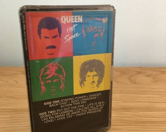 Vintage Queen Hot Space Album Cassette Tape