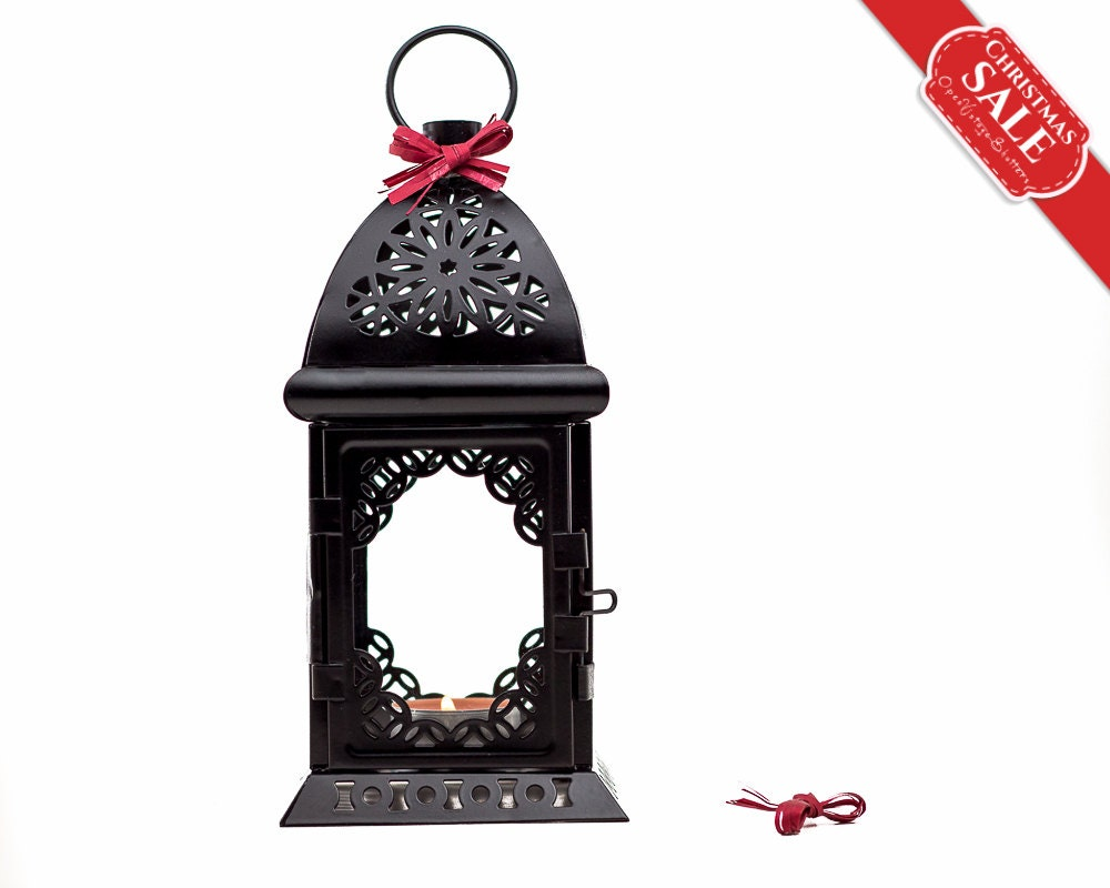 Black and White Wedding Candle Lantern Centerpiece/ Morrocan