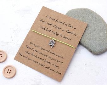 Friendship Bracelet, Friendship Wish Bracelet, Gift for a Friend, Friend Wish Bracelet, Friend Gift, Card for a Friend, Friendship gift