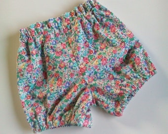 Cutie Shorts Bloomers in vintage florals size 1