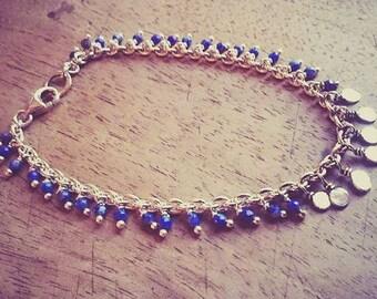 Bracelet Silver 925 and lapis lazuli