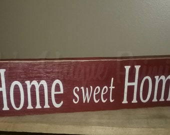 Wooden Home Sweet Home Sign Signs Handmade Wooden Signs Country Home Decor Primitive Rustic Country Wooden Decor