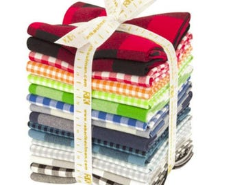Kaufman - Carolina Gingham - Traditional Palette - Fat Quarter Bundle
