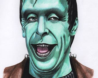 Herman Munster A4 Colour Drawing