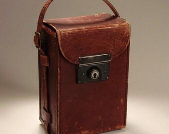 Vintage Camera Case with Travel Sticker